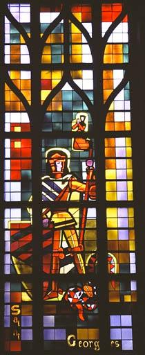 Verrière figurée : Saint Georges et le dragon