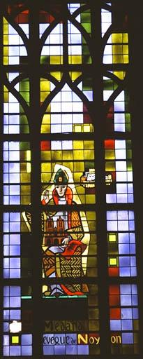 Verrière figurée : Saint Médard