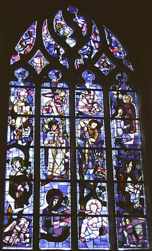 Verrière figurée : Arbre de Jessé des saints Picards
