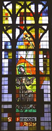 Verrière figurée : Stigmatisation de Saint François d'Assise