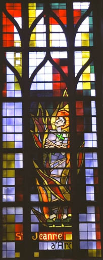 Verrière figurée : Sainte Jeanne d'Arc