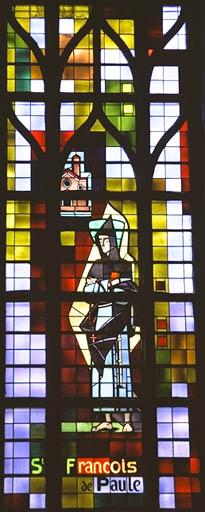Verrière figurée : Saint François de Paule