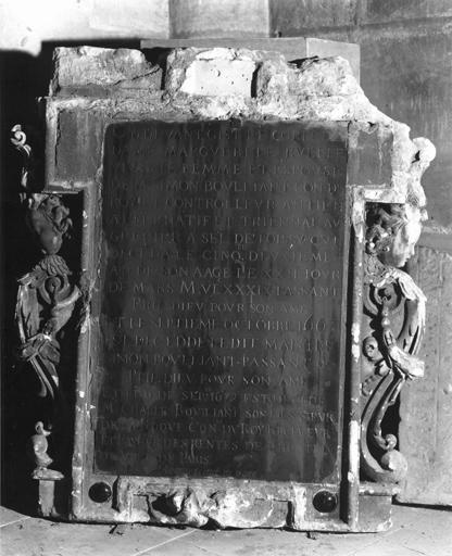 Dalle funéraire de la famille Bouillant