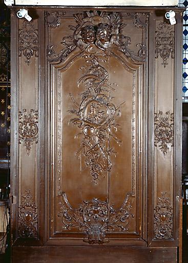 lambris de demi-revêtement du choeur, de l'autel de la Vierge et de l'autel de Saint-Roch