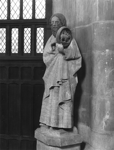 Statue (grandeur nature) : saint Jean-Baptiste