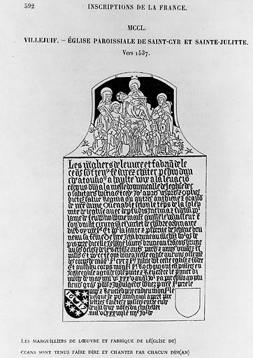 plaque commémorative de la translation des reliques de Saint-Cyr et Sainte-Julitte