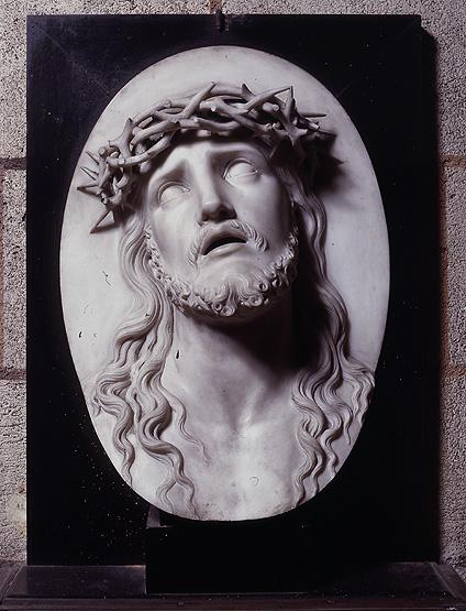 Haut-relief : Christ souffrant