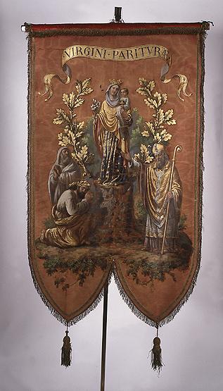 Bannière de procession n°1 : Vierge à l'Enfant