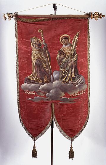 Bannière de procession de saint Claude et saint Vincent