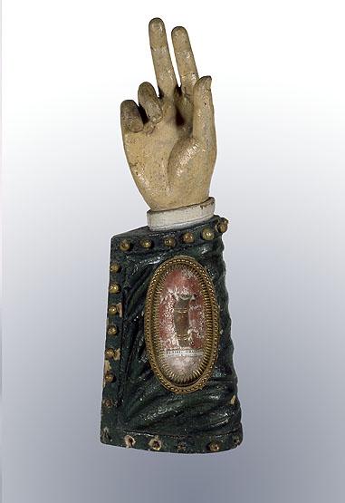 4 reliquaires morphologiques de sainte Marie-Madeleine, sainte Colombe, saint Blaise, sainte Marguerite