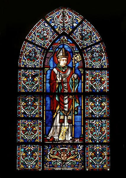 3 verrières figurées décoratives : saint Saturnin (baies 0 à 2)