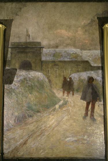 Tableau (tableau mural de la salle des fêtes) : pro Patria