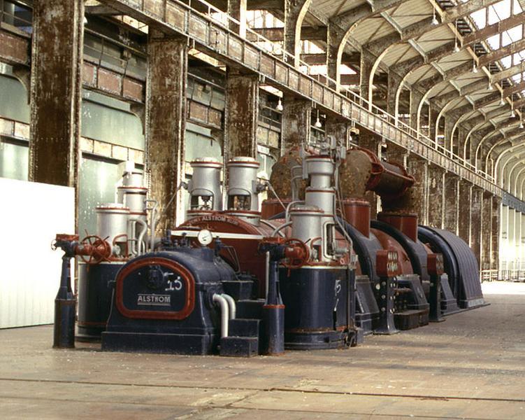 Turbine à vapeur et alternateur triphasé : turbo-alternateur (tranche 1) [détruit après inventaire]