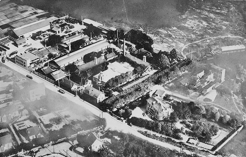 usine de peintures et vernis Dida puis Levasseur et Cie, actuellement temple