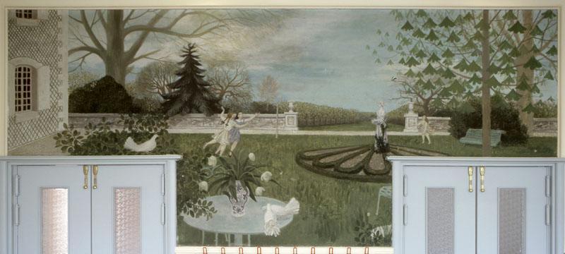 Ensemble de six peintures du réfectoire 'Scènes récréatives'
