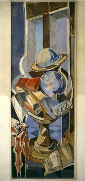 Ensemble de peintures 'Les sciences naturelles et les sciences exactes', 'Les Arts', 'Les Lettres'