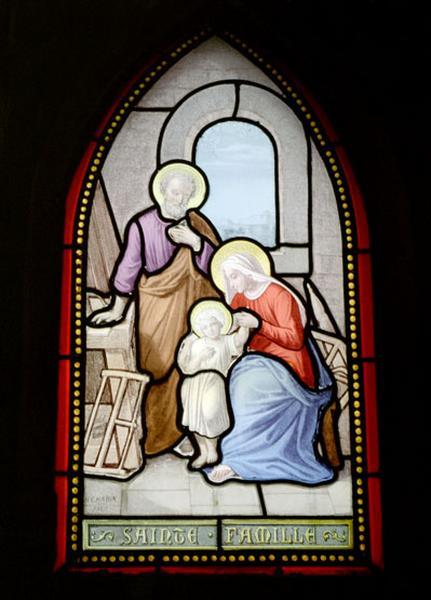 verrière historiée de la Sainte famille