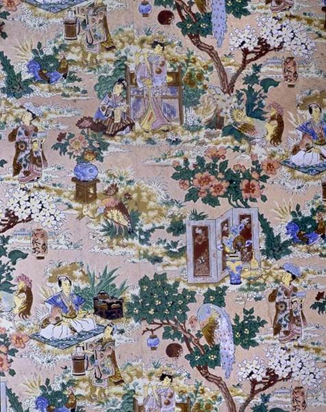 Revêtement mural : papier peint à motifs chinois