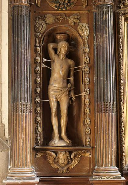 Ensemble de 2 statues : saint Roch et saint Sébastien