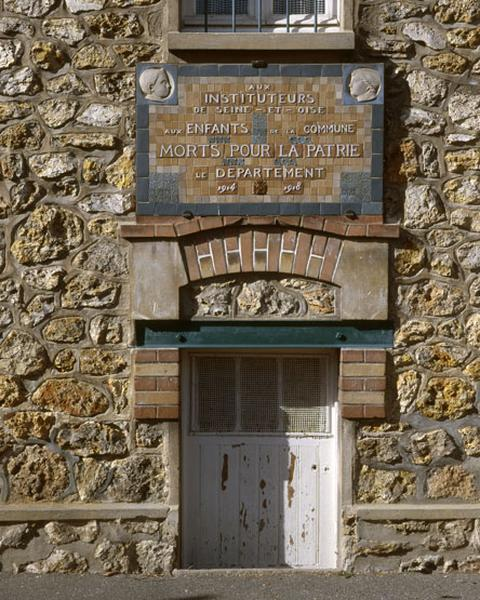 Ensemble de 2 plaques commémoratives des instituteurs de Seine-et-Oise