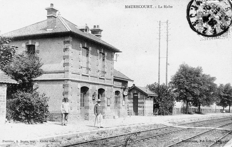Voie ferrée de la ligne Argenteuil-Mantes