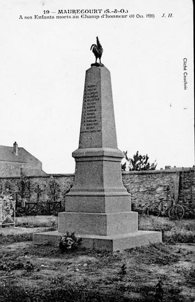 monument aux morts de la première guerre mondiale