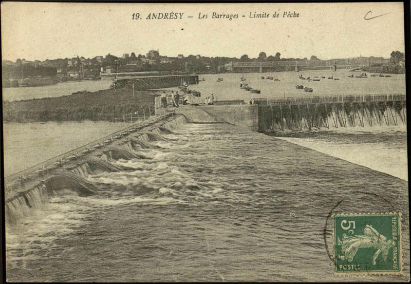 barrage mobile à fermettes et aiguilles dit barrage d'Andrésy (détruit)