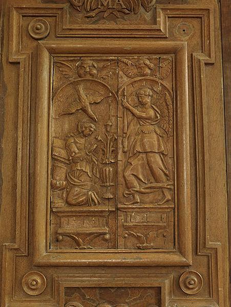4 bas-reliefs : scènes de la vie de la Vierge