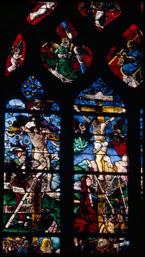 verrière : baie n°0, Crucifixion