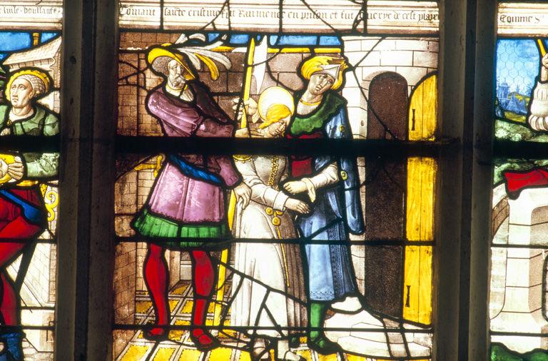 verrière : baie n°10, sainte Christine de Bolsene
