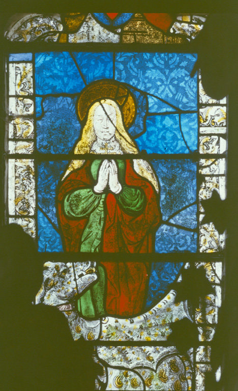 verrière (baie n°0) : sainte Marguerite