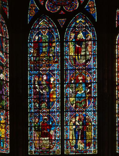 Verrière figurée : saint Pierre et saint Paul (baie 204)