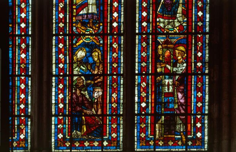 Verrière hagiographique : saint Nicolas (baie 205)