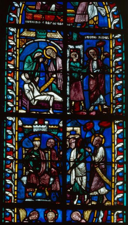 Verrière : histoire de saint Jean l'Evangéliste (baie 5)