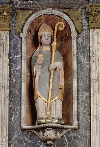2 statues : saint Remi, saint Sébastien
