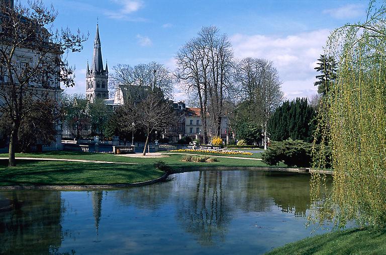Jardin d'agrément de l'Hôtel Auban-Moët, aujourd'hui jardin public de l'hôtel de ville