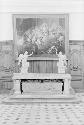 2 statues : Anges adorateurs (en pendant)