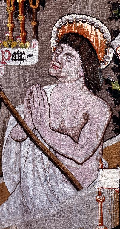Pièce murale : La Guérison de sainte Pétronille, Georges ressuscité par le bâton de saint Pierre, la Guérison d'Énée