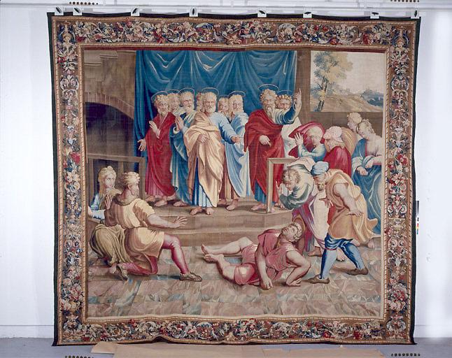 Pièce murale : La Mort d'Ananias