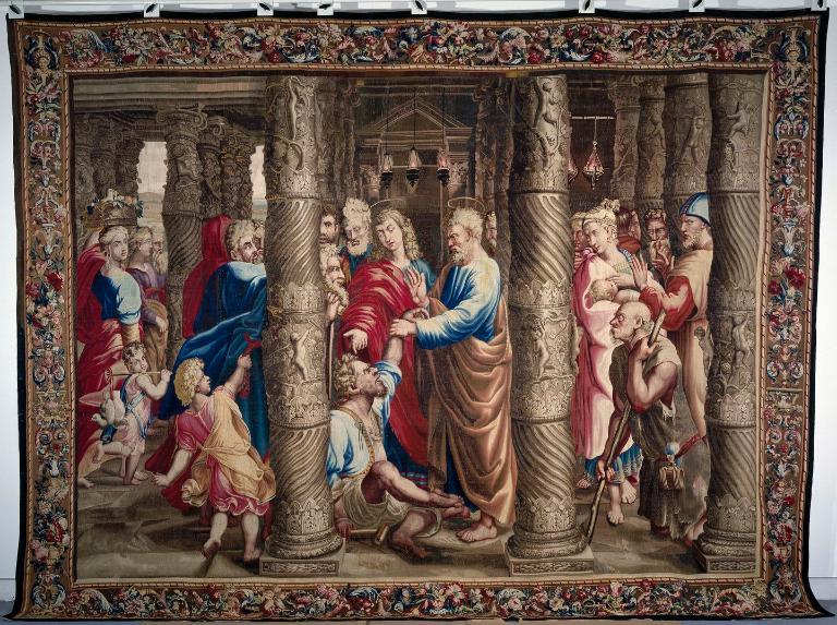 Pièce murale : La Guérison du boiteux à la porte du temple