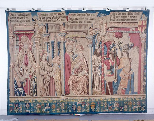 Pièce murale : La succession de saint Pierre, les Machinations de Simon le Magicien et Néron