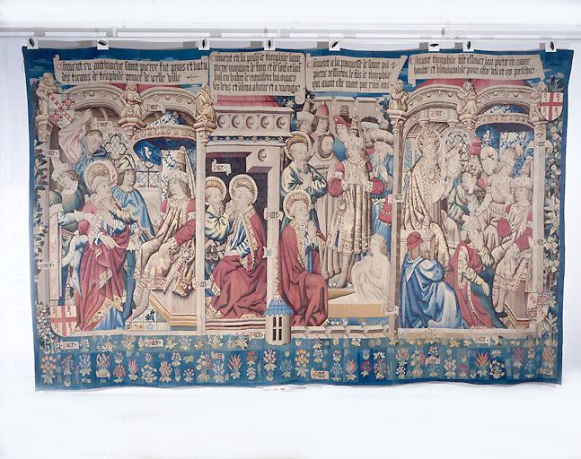 Pièce murale : Scènes de la vie de saint Pierre en relation avec Théophile