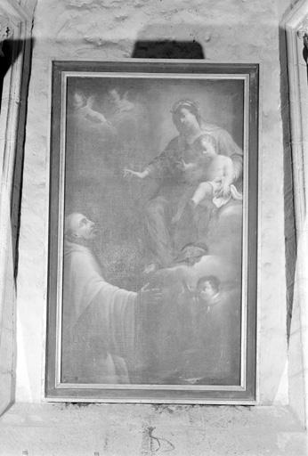 Tableau : La Vierge et saint Bruno