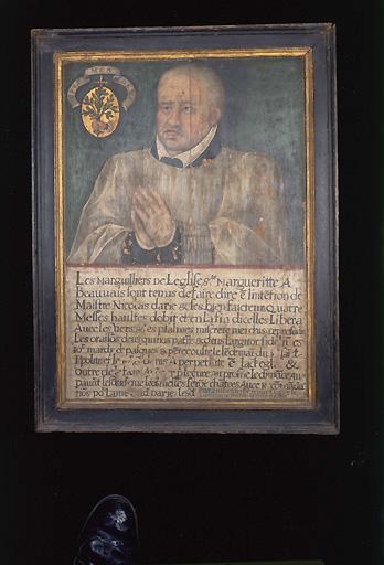 Tableau de consécration de Nicolas Darie