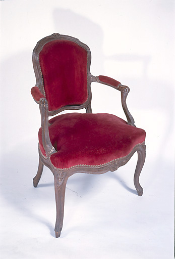 fauteuil (siège en cabriolet) (n° 1)