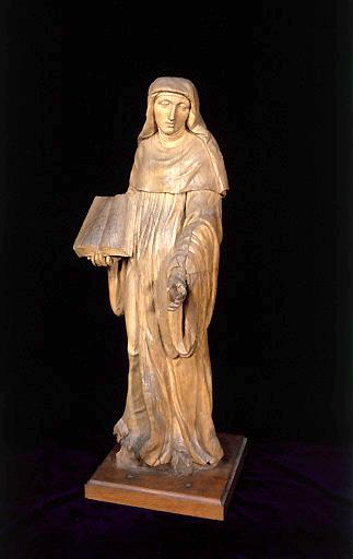 Statue (petite nature) : Sainte Angadrême (n° 2)