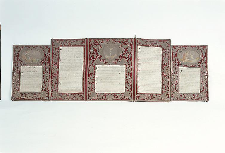 Ensemble de trois canons d'autel (n° 1)