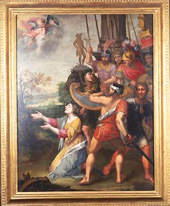 Tableau : Martyre de sainte Catherine
