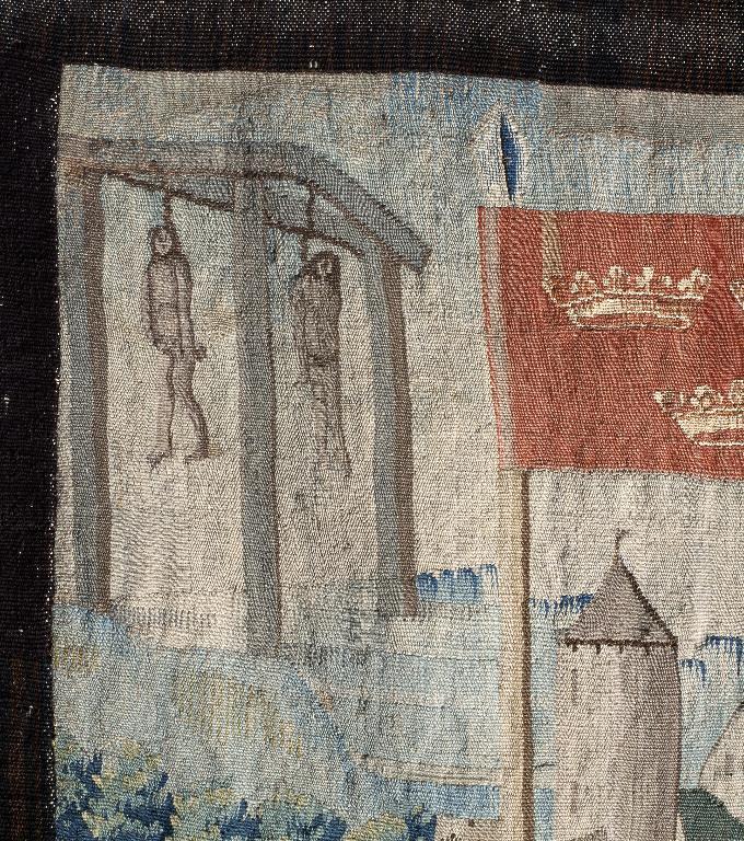 Pièce murale : Le Roi Rémus donnant sa fille en mariage à Francus