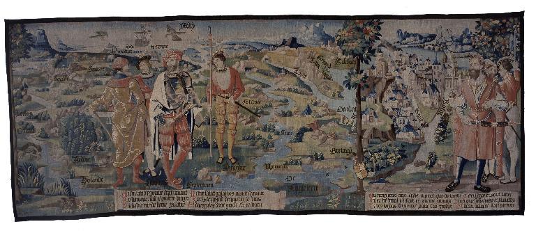 Ensemble de cinq pièces murales : L'Histoire des Gaules